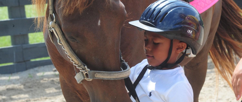 beginning horse riding